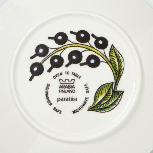 Paratiisi dishes with this label were produced in Finland 1984-2005