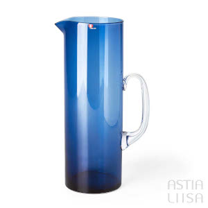 Iittala i-lasi Blue Pitcher
